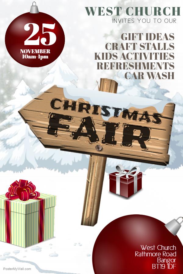 Copy Of Christmas Fair Flyer Template 2 West Church Bangor